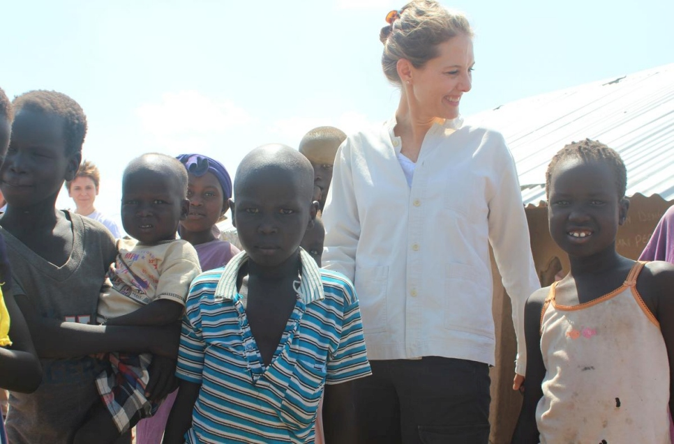 """Every crisis is important and every life is important.""  UNHCR Patron, HRH Sarah Zeid of Jordan, meets young refugees at Kakuma camp in Kenya."