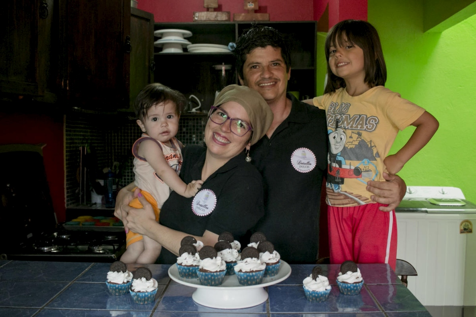 Costa Rica. Julissa  Marín, a refugee from Venezuela, her family are the principal ingredients around her magical baking creations