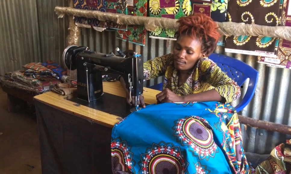 Kenya. Congolese tailor's skillful hands help her overcome disability