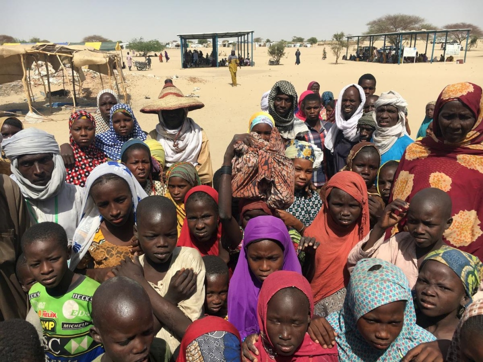 Niger. Kabelawa IDP camp hosts displaced families affected by the Boko-Haram
