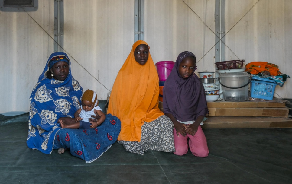 """Armed men attacked us, they killed my husband and burned our village, so I fled with my children. I was happy to receive the shelter and to feel we are safe, me and my children. The space is enough for us. We have lighting even at night and now my children can properly study."""
