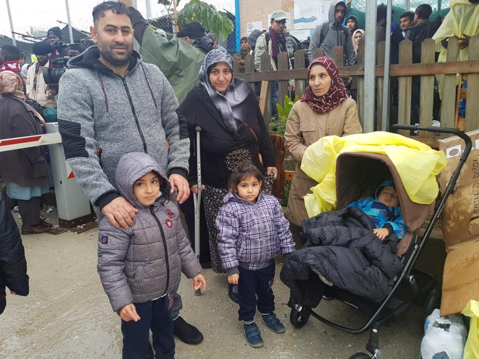 Greece. UNHCR helps a Syrian family move from Lesvos island to mainland Greece