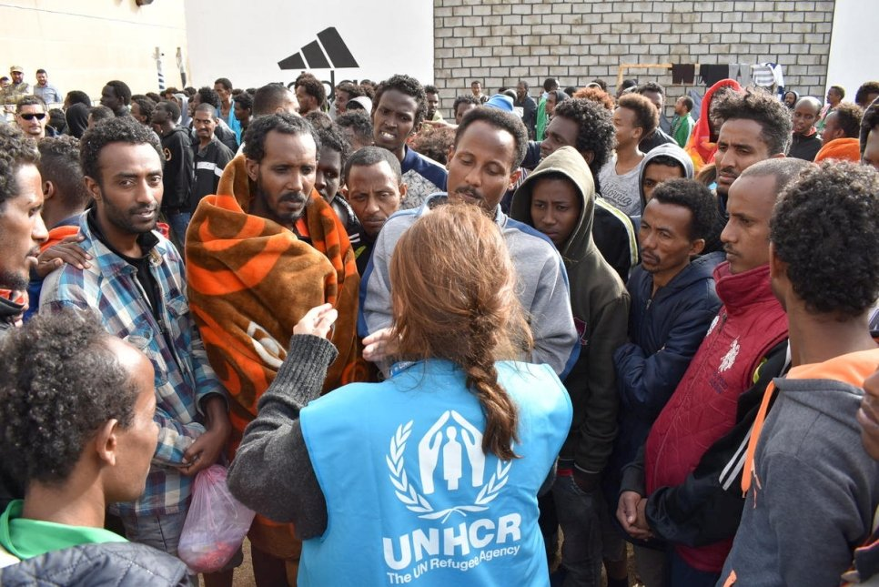 Refugees protest conditions in Libyan detention as resettlement solutions falter