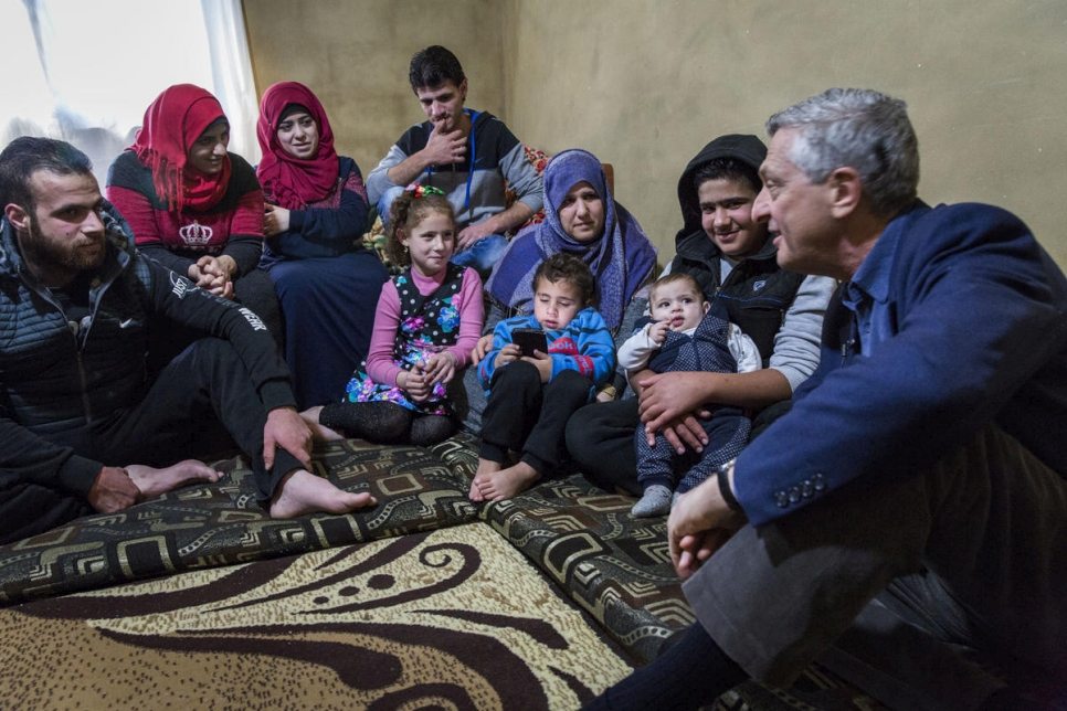 Lebanon. UNHCR Chief meets Syrian family yearning to return but trapped by fear