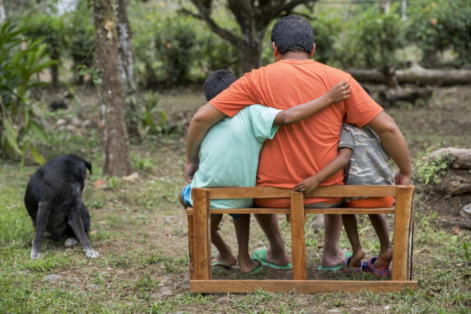 Costa Rica. Nicaraguan family that escaped from the political conflict in Nicaragua