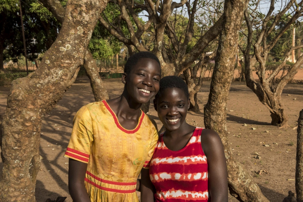 After growing up with no official nationality in an orphanage, now Françoise (left) and Christel are proud citizens of Cote d'Ivoire.