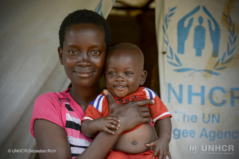 Tanzania. Burundi refugee family living in UNHCR shelter.