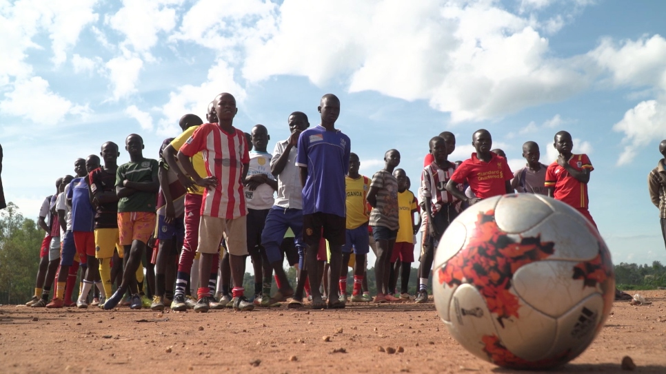 Italian football coaches show solidarity with refugees and host communities in Uganda