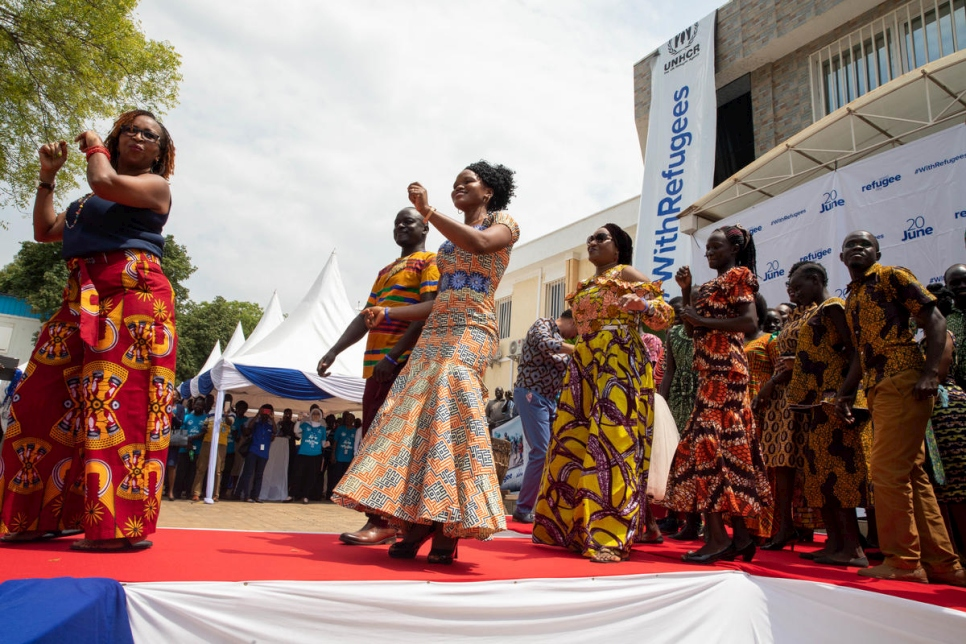UNHCR staff joined refugees on the catwalk to mark World Refugee Day in Juba, South Sudan.