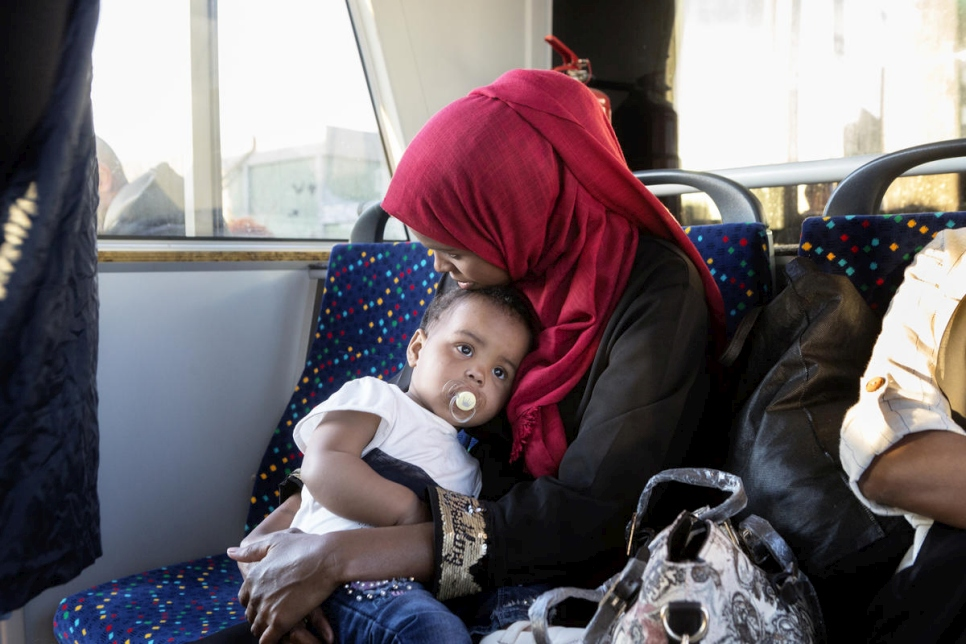 Italy. Refugees reach safety after evacuation from Tripoli