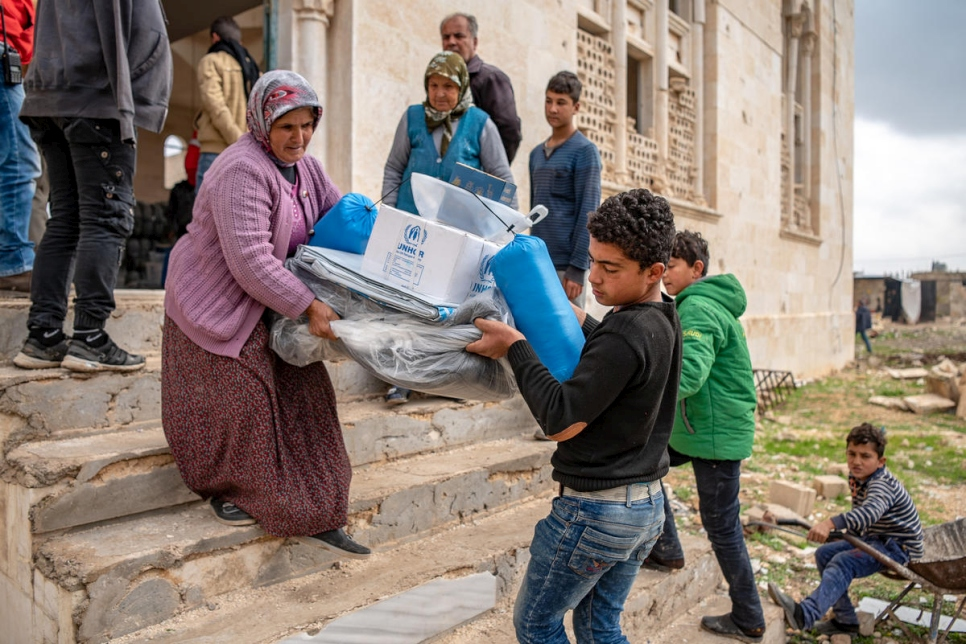 Syria. UNHCR supports Afrin displaced scattered across rural Aleppo