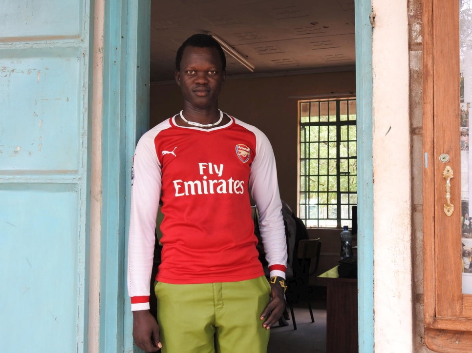 Deng Malual, 26, has spent half of his life as a South Sudanese refugee in Kakuma Camp, Kenya.