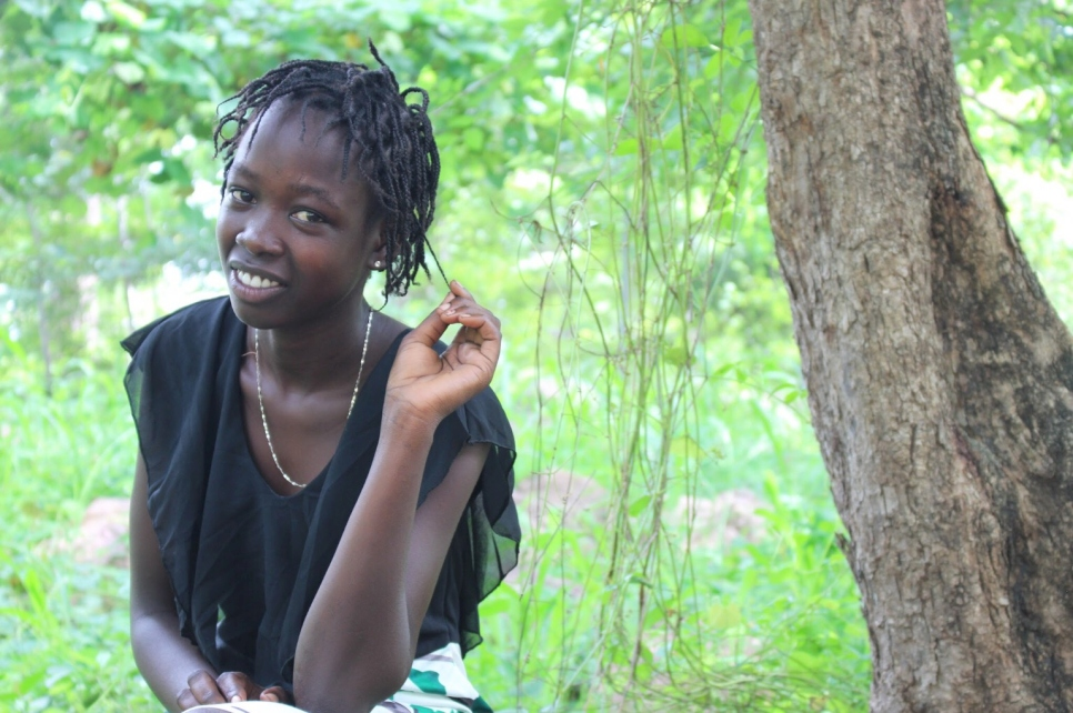 Nyawal Chot left South Sudan in 2012. She is now focused on completing her education in Jewi camp, Ethiopia.