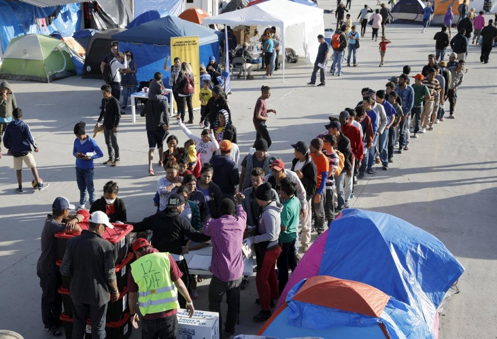 Mexico. Caravan of refugees and migrants seek shelter and work in Tijuana