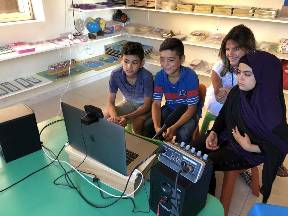 Lebanon. In Beirut's suburb, 3 refugee kids came to be part of a skype call with Jambouree scouts coming from all over the world