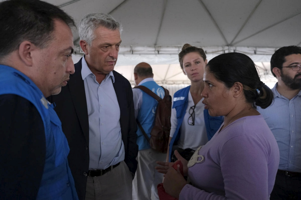 Brasil. Field visit of HC, Filippo Grandi, to Brasil to see the situation of Venezuelan refugees and migrants.