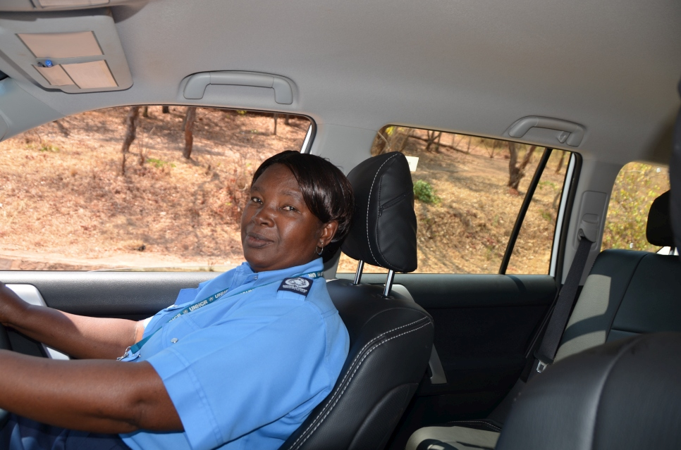 Rita Namugala has worked at UNHCR as a driver for 17 years.