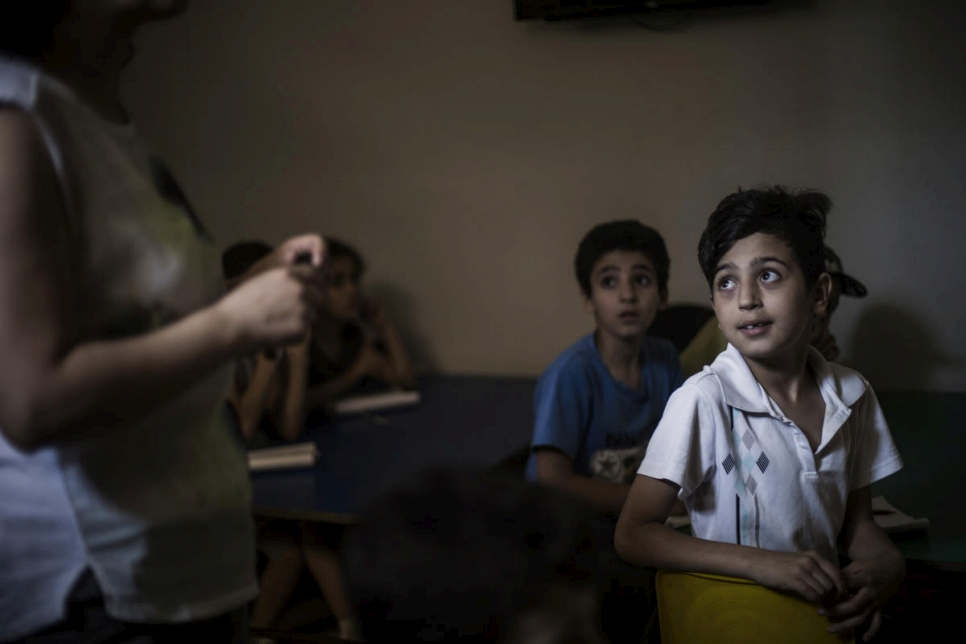 Lebanon. Informal school helps kids in south Beirut slum