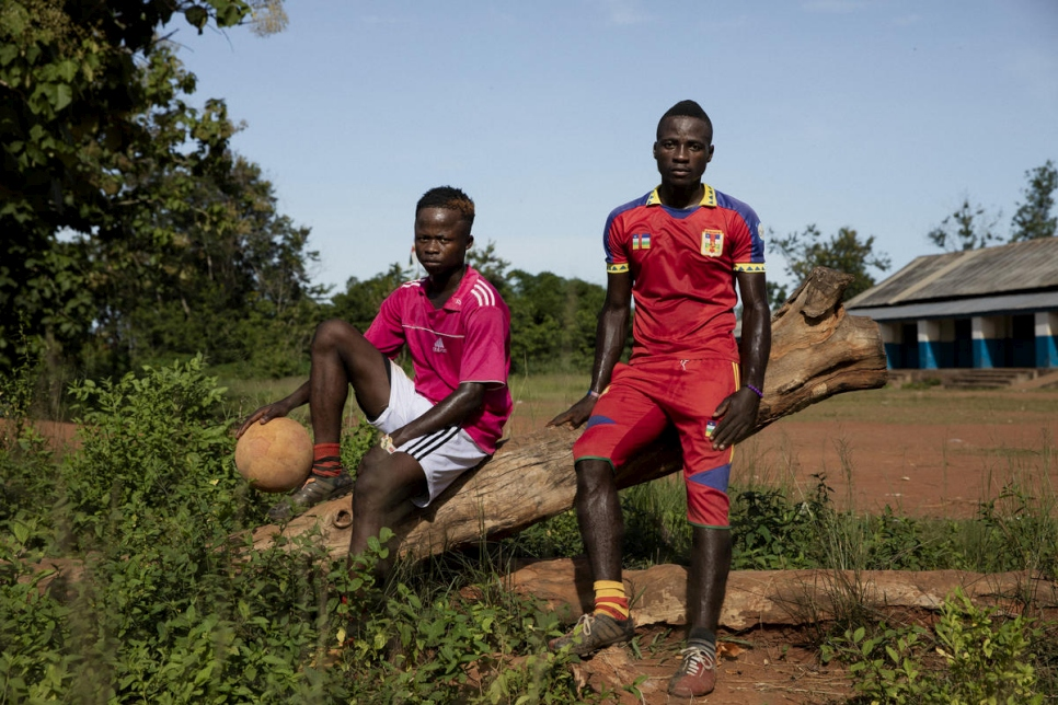Central African Republic. Returnees from the two Congos rebuild their lives