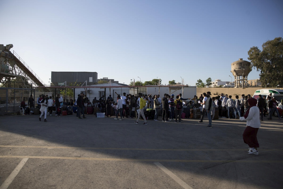 Libya. Refugees freed from detention are evacuated from Tripoli conflict zone