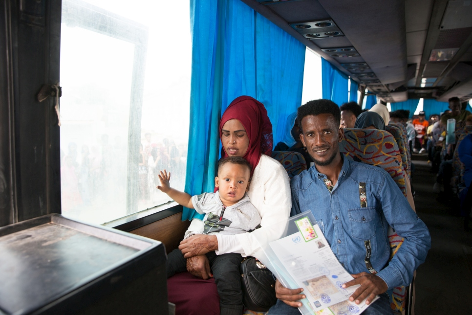 Libya. UNHCR evacuation of refugees from Libya to Italy