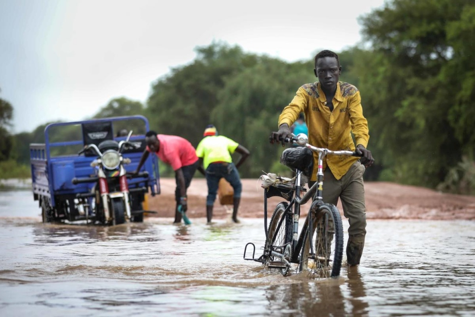 South Sudan. Heavy rains in Ethiopia floods refugee camps in great Maban county