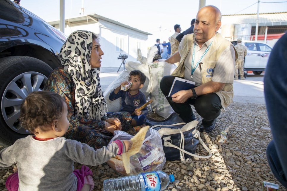 Iraq. Refugees flee violence in Northern Syria