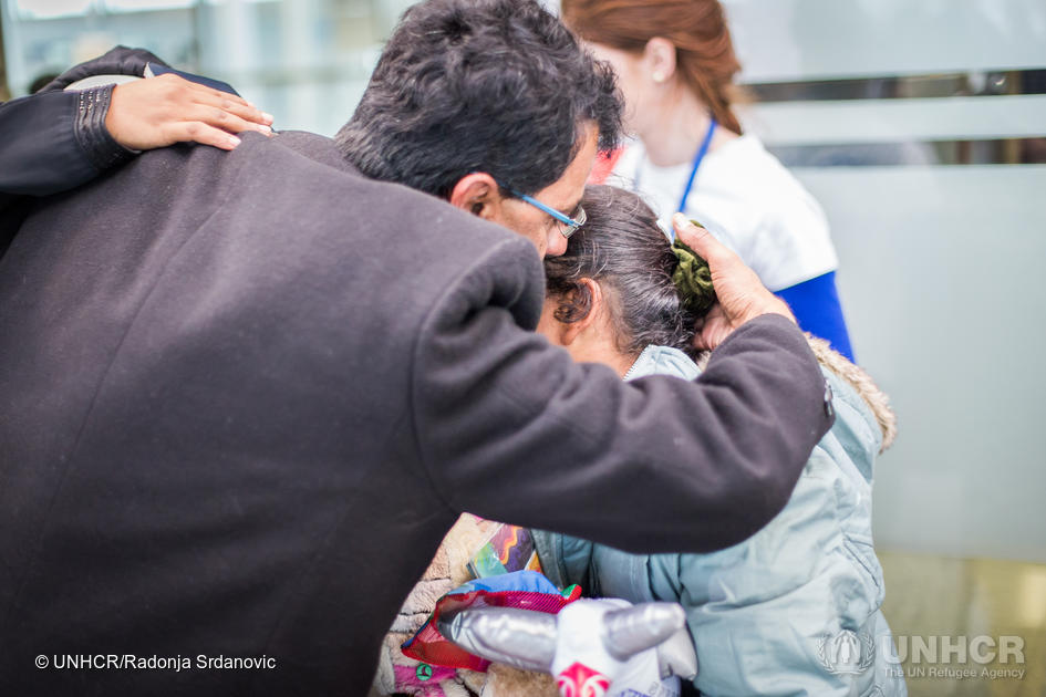 After four years of separation, Yemeni refugee Jamil was finally reunited with his wife and their four young children.