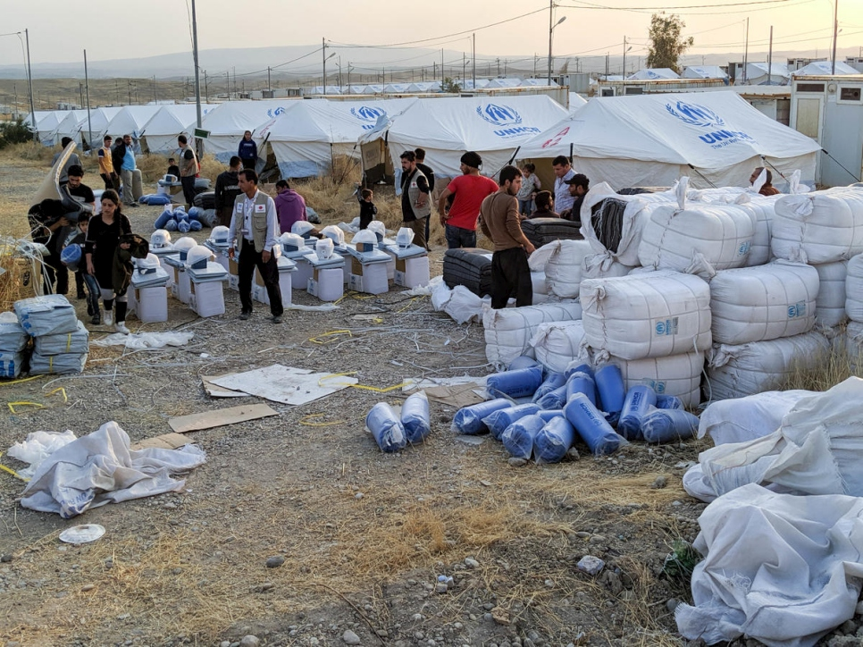 Iraq. Syrian refugees fleeing conflict receive aid and shelter at Bardarash camp