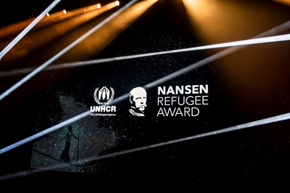 The 2019 Nansen Refugee Award ceremony is about to begin at the Bâtiment des Forces Motrices in Geneva, Switzerland.