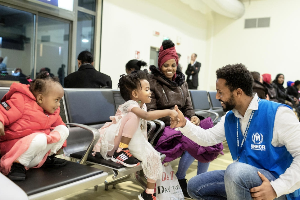 2019.UNHCR flight relocates 54 vulnerable refugees from Niger to Italy.Italy