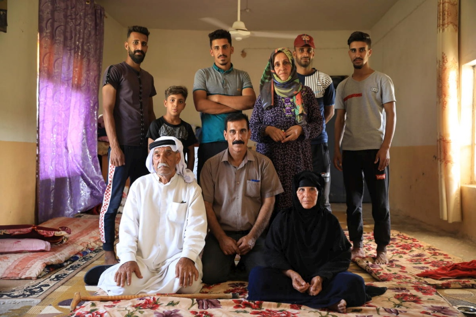 Iraq. Internally displaced farming family returns home after defeat of ISIS