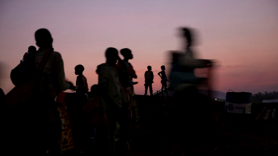 Central African refugees wake up at Mole camp in the Democratic Republic of the Congo (DRC) after their last night in exile before being voluntarily repatriated to the Central African Republic (CAR).