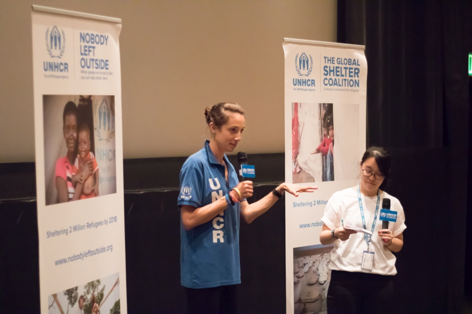 UNHCR Site planner and Shelter Officer Phoebe Goodwin shares stories from the field at the Refugee Film Festival