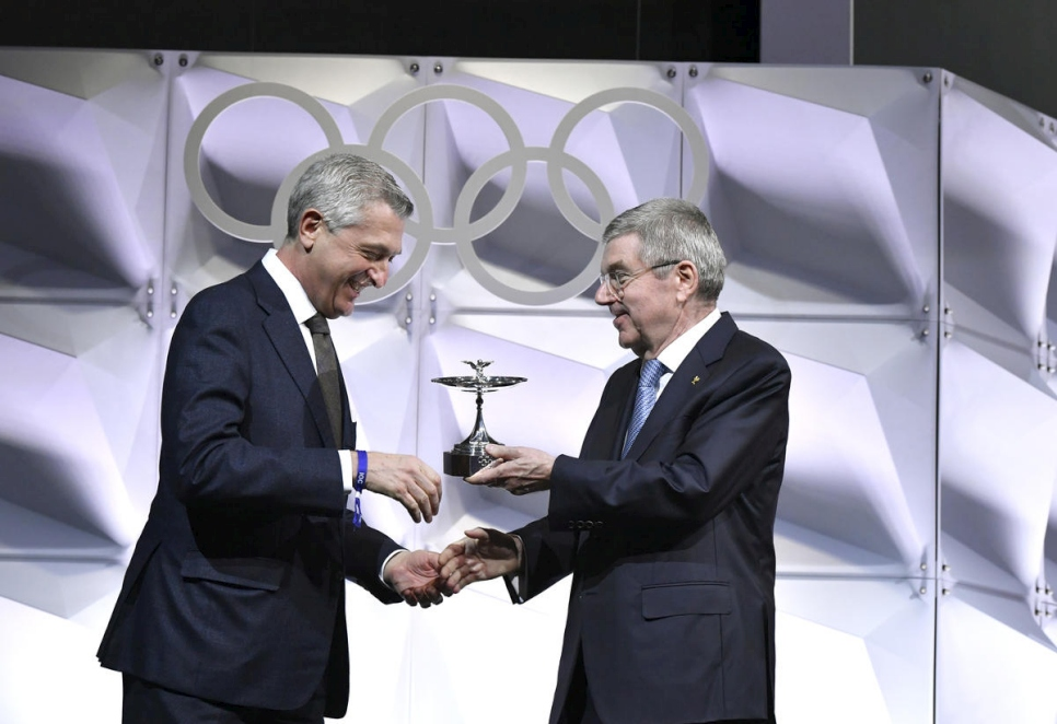 Switzerland.UN Refugee Agency honoured with Olympic Cup for sporting contribution