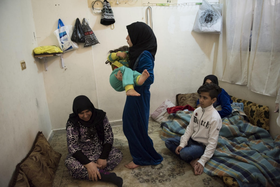 Lebanon. Vulnerable Syrian refugee family living in Mount Lebanon