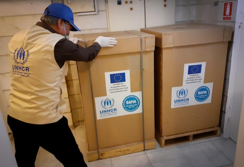 Iran. UNHCR receives airlift with vital medical aid to support Iran's health system and the COVID-19 response