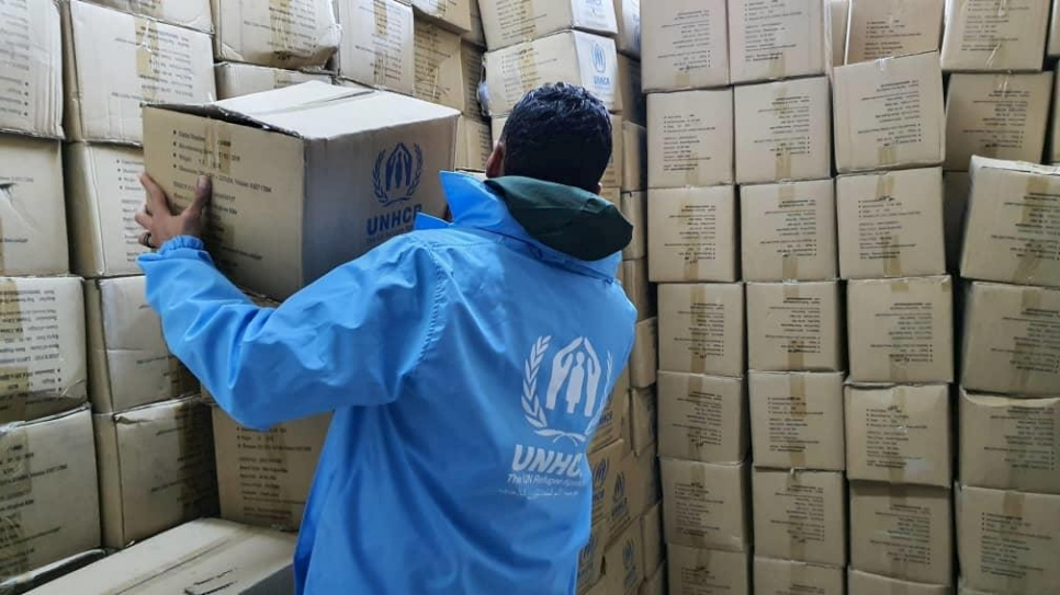 UNHCR distributed emergency relief items to 580 displaced Libyan families in the city of Zawiya