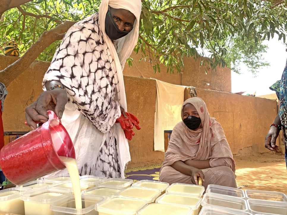 Niger. In Niamey, refugees produce soap used to fight coronavirus