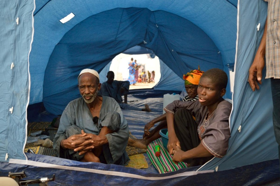 Burkina Faso. Malian refugees relocated from unsafe northern areas to Sahel