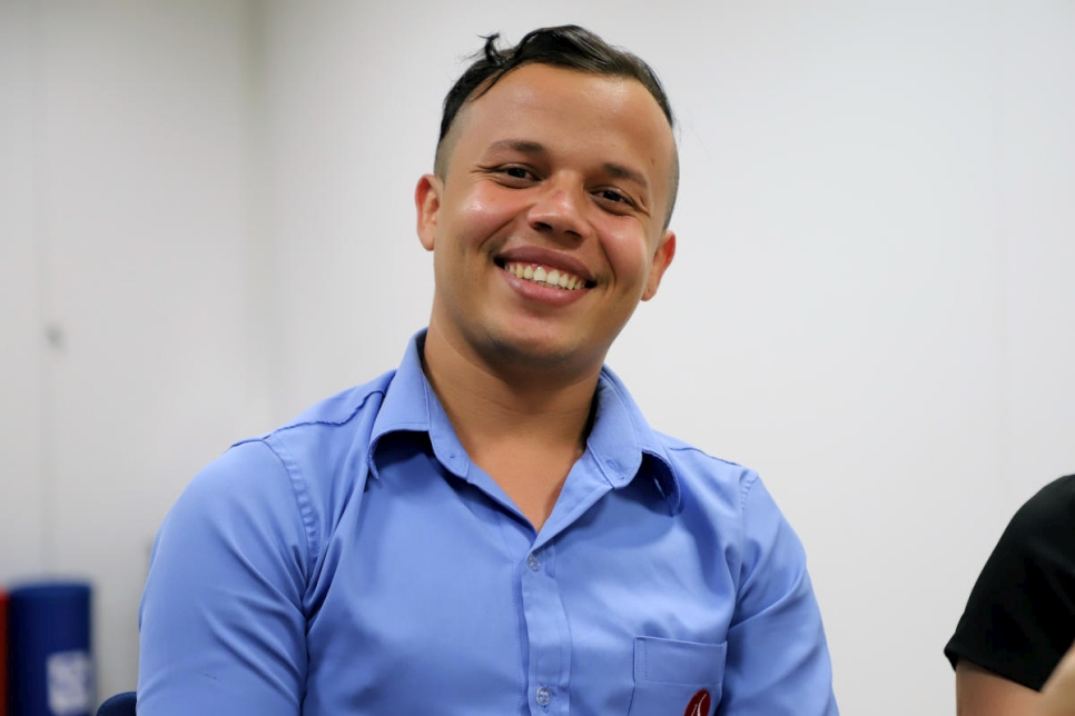 Elvis Daniel, a 25-year-old medical lab employee, got a new lease on life after fleeing from his native Venezuela to Brazil