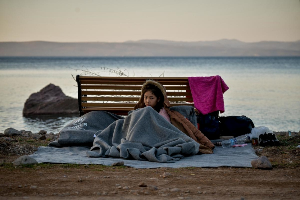 Greece. Refugees Arrive in Lesvos island