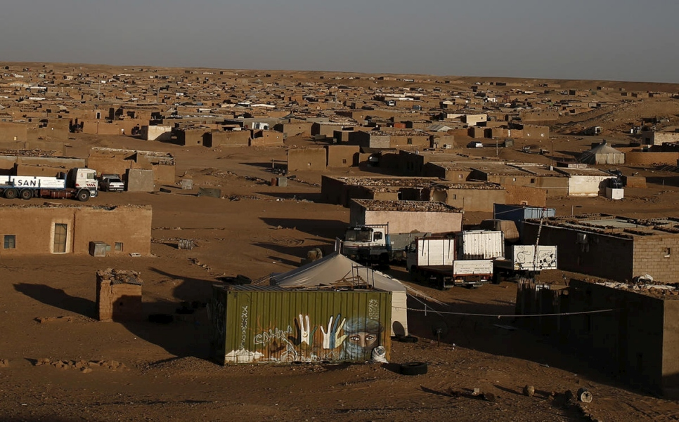 Algeria. A general view of a part of the refugee camp of Boudjdour in Tindouf