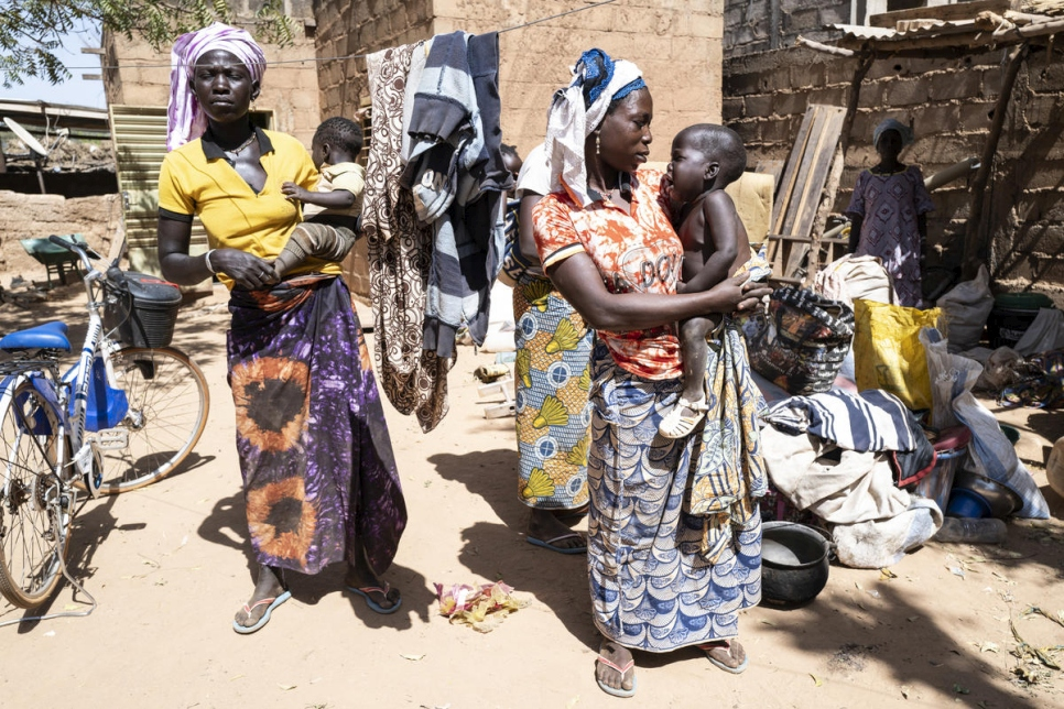 Burkina Faso. Thirty-three family members internally displaced by violence