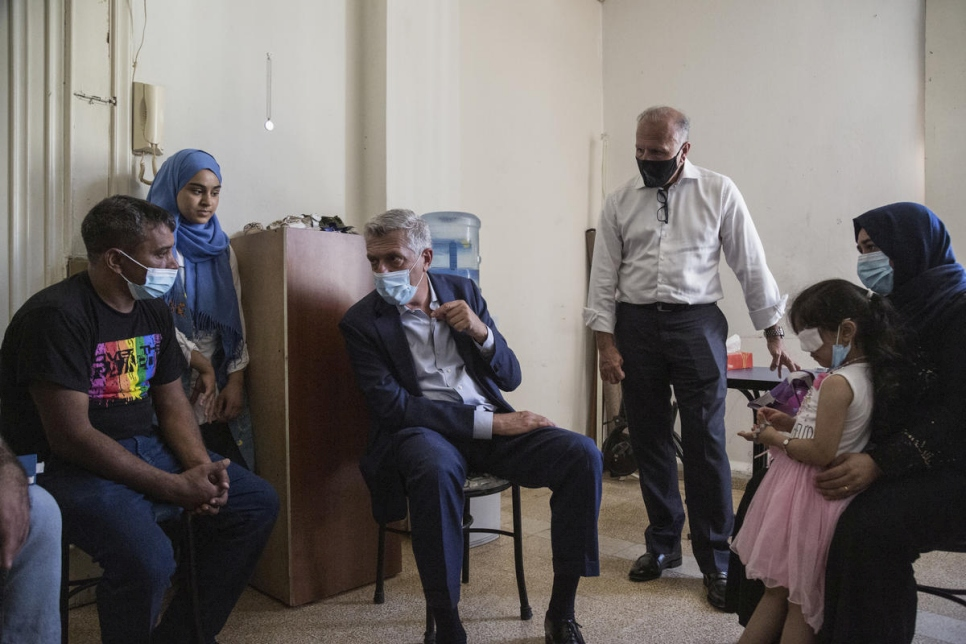 Lebanon. Filippo Grandi visits in aftermath of beirut port explosion