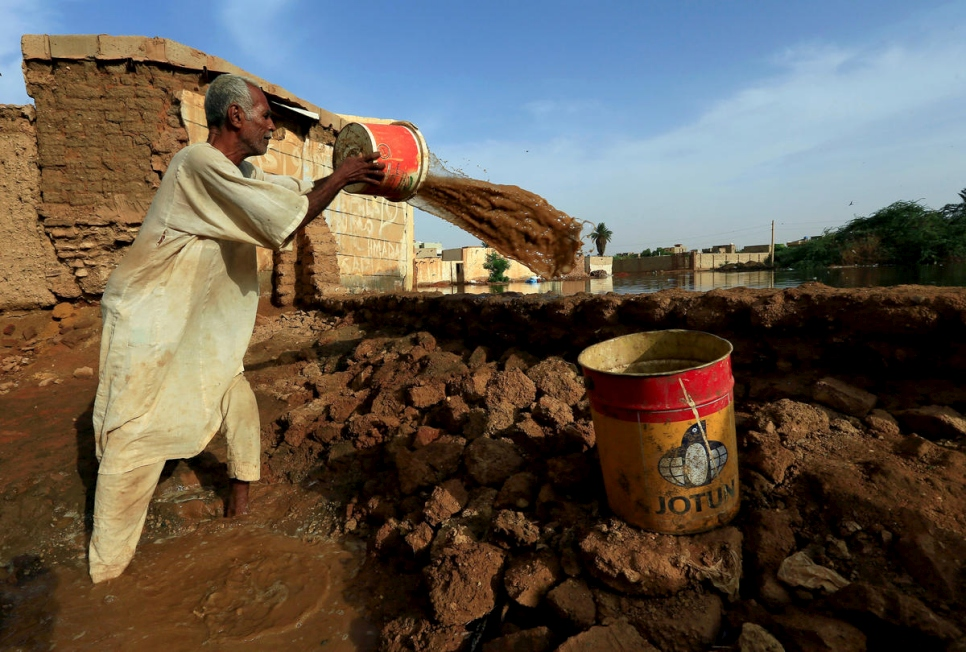 Sudan. Floodwaters in Sudan reach record levels, in Khartoum