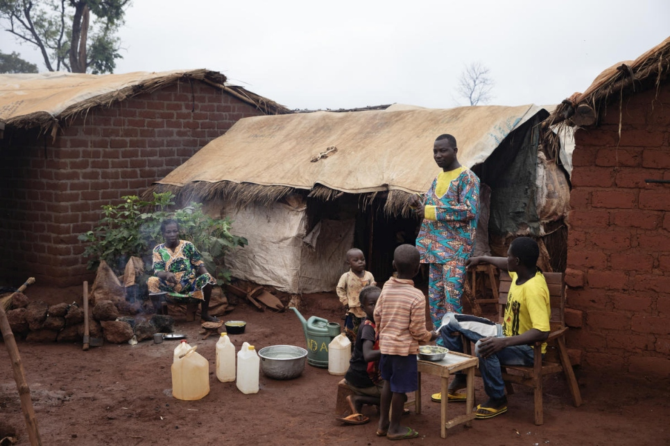 Central African Republic. Life inside PK3 site for Internally Displaced Persons