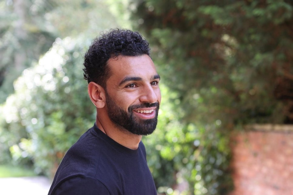 UK. World renowned footballer and UNHCR and Vodafone Foundation Ambassador for Instant Network Schools (INS), Mohamed Salah