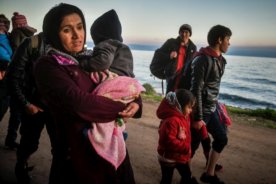 Greece. Refugees Arrive on Lesvos island