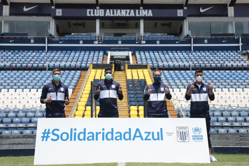 Peru. Peruvian football club Alianza Lima partners with UNHCR to support refugees